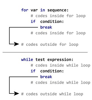 How the break statement works in Python