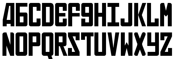 Russian Font UPPERCASE