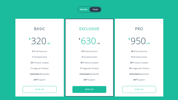Demo Image: Responsive Flip Pricing Table