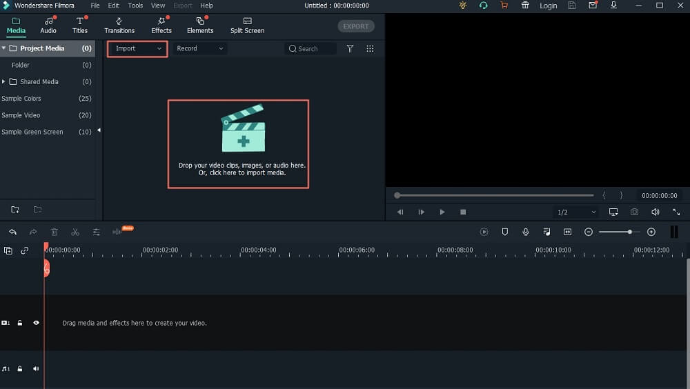 import video into media library