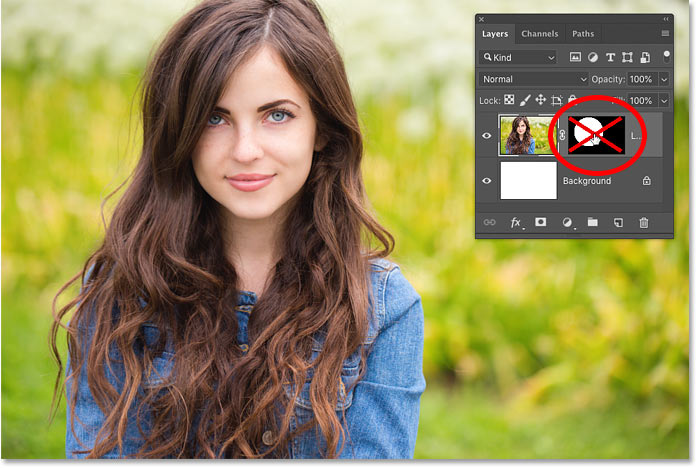 How to disable a layer mask in Photoshop