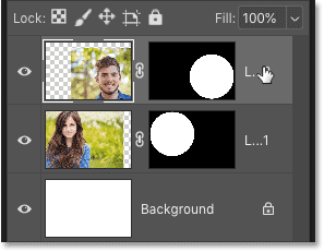 Selecting a layer to delete it in Photoshop