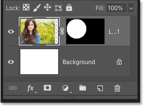 Deleting both the layer and the layer mask in Photoshop