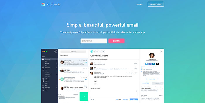 polymail_io Some Of The Best One Page Websites Designs For Inspiration